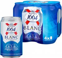 Пиво Kronenbourg 1664 Blanc світле фільтроване пастеризоване 4,8% 0,33л* 4 шт