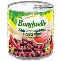 Квасоля Bonduelle червона в соусі чилі 425мл