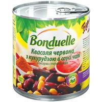 Квасоля Bonduelle червона з кукурудзою в соусі чилі 425мл