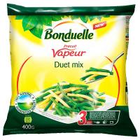 Квасоля Bonduelle зелена/жовта стручкова на парі заморожений продукт 400г