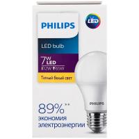 Лампа Philips світлодіодна LED 7W 30000К Е27