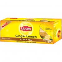 Чай Lipton Ginger Lemon чорний імбир-лимон 25*2г