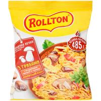 Локшина Rollton яєчна з грибами пакет 85г