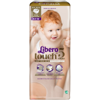 Дитячі підгузники ТМ Libero Touch, №5 10-14 кг, Швеція, 44 шт