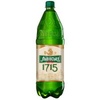 Пиво Львівське 1715 світле фільтроване 4.7% 2,3л