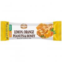 "Батончик зерновий ""Лимон, апельсин, арахіс та мед"" TM ""MagNut"" Україна 35г"