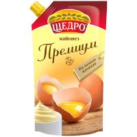 Майонез Щедро Преміум на яєчних жовтках 72% 350г
