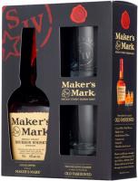 Віскі Maker`s Mark 45% 0,7л +2 келихи в коробці