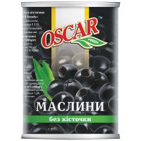 Маслини Oscar Foods чорні б/к 400г