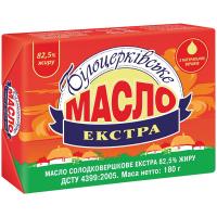 Масло Білоцерківське Екстра солодковершкове 82,5% 180г