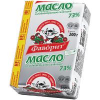 Масло Фаворит Селянське солодковершкове 73% 200г