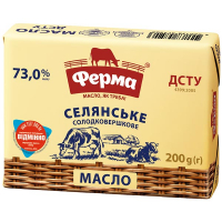 Масло Ферма Селянське солодовершкове 73,0% 200г