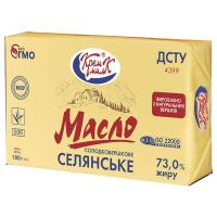 Масло КремМілк Селянське солодковершкове 73% 180г