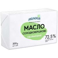 Масло Молокія солодковершкове селянське фольга 72,5% 200г