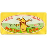 Масло Moulind`or вершкове солоне 80% 250г