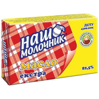 Масло Наш Молочник Солодковершкове екстра 82,5% 180г