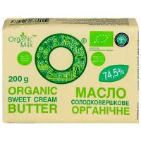 Масло Organic Milk солодовершкове 74,5% 200г