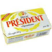 Масло President кисловершкове екстра 82% 200г