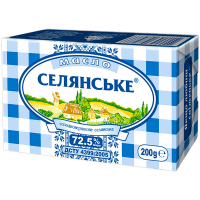 Масло Селянське солодковершкове 72,5% 200г
