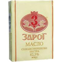 Масло Зарог Екстра солодковершкове 82,5% 200г