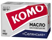 Масло Комо кисловершкове Селянське 73% 180г