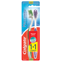 Зубна щітка Colgate Massager Medium 1+1