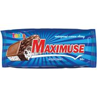 Морозиво Laska Maximus з печивом в кондитерській глазурі 90г