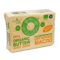 Масло Organic Milk солодковершкове екстра 82,6% 200г х10