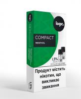 Картридж Logic Compact Menthol 1.5% 2*1.7мл