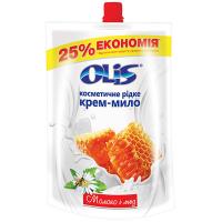 Мило косметичне Olis молоко і мед 500мл