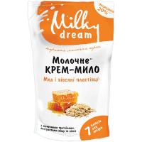 Мило Milky Dream рідке Мед з вівсяними пластівцями 1л