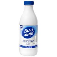 Молоко Біла Лінія Українське 2,5% пет 900г