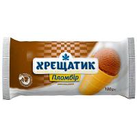 Морозиво Хладик Хрещатик пломбір шокол. в ваф.стак. 100г