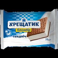 Морозиво Хрещатик пломбір сендвіч на печиві з какао 75г