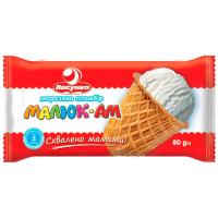 Морозиво Ласунка Пломбір Малюк-Ам у ваф. цукр. стак. 80г
