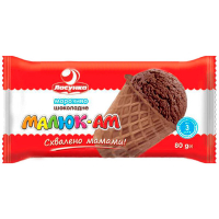 Морозиво Ласунка Малюк-АМ пломбір з какао 80г
