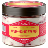 Морозиво Рудь Pura Vida Крем-Чіз-Полоуниця 350г