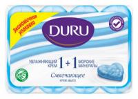 Мило туалетне тверде Duru Soft Sensations Крем+Морські мінерали, 4 шт.*90 г