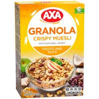 Мюслі AXA у меді фрукти/горіх 375г