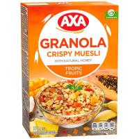 Мюслі AXA у меді фрукти/троп.фрукти 375г