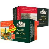 Набір чай Англійський до сніданку+Класичний Чорний Ahmad 40штх2г