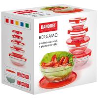 Набір Banquet Bergamo 5шт мисок з кришкою