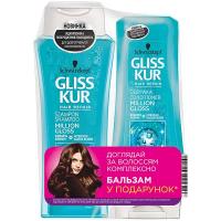 Набір шампунь та бальзам для волосся 250мл+200мл Gliss Kur