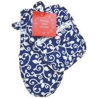 Набір Вензель на синьому рукавичка і прихватка