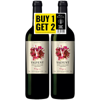Набір вина Valvent Rouge Sec рожеве червоне сухе 2*750мл
