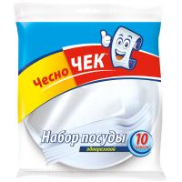 Набір одноразового посуду 10 персон ТМ Чесно Чек Україна