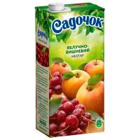 Нектар Садочок яблучно-вишневий 0,95л