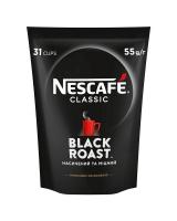 Кава Nescafe Classic Black Roast розчинна 55г