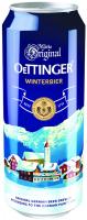 Пиво Oettinger Winterbier світле нефільтроване 5.6% ж/б 0,5л