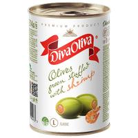 Оливки Diva Oliva зелені з креветкой 300г